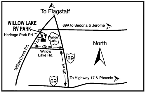 Willow Lake RV Map